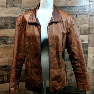 Amazing Leather Jacket. Unique color